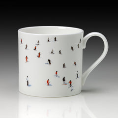 Skiers Mug, Large, Dede Johnston Alternate View