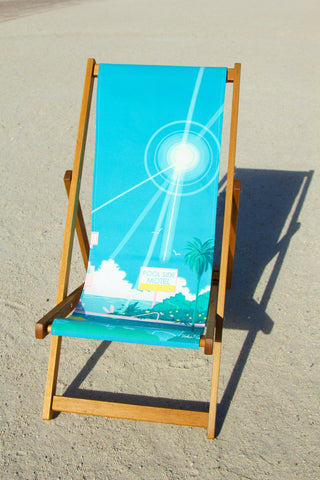 Pool Side Motel Deckchair (tilted view on sand), Yoko Honda - CultureLabel - 1