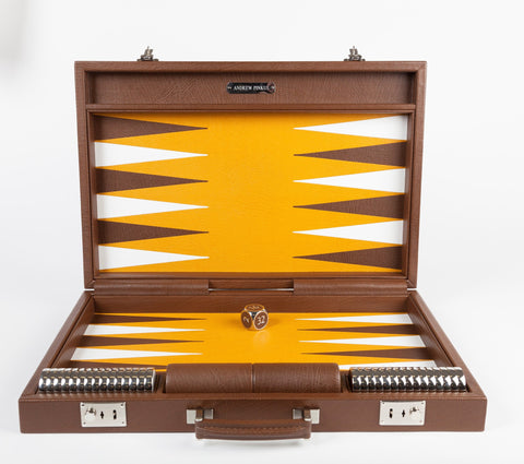 Handcrafted Leather Backgammon Set, Andrew Pinkus - CultureLabel - 1