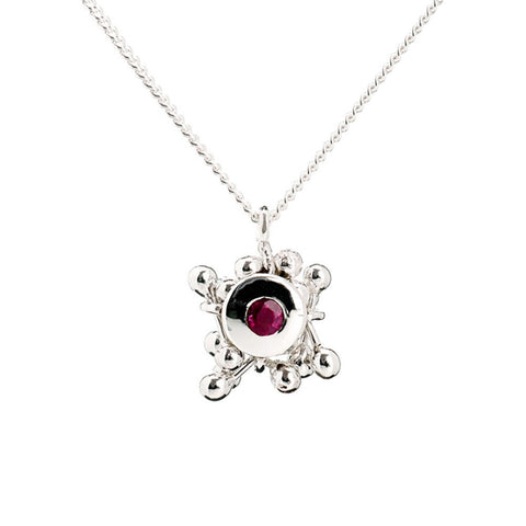 Molecule Ruby Cluster Necklace, Yen Jewellery - CultureLabel - 1