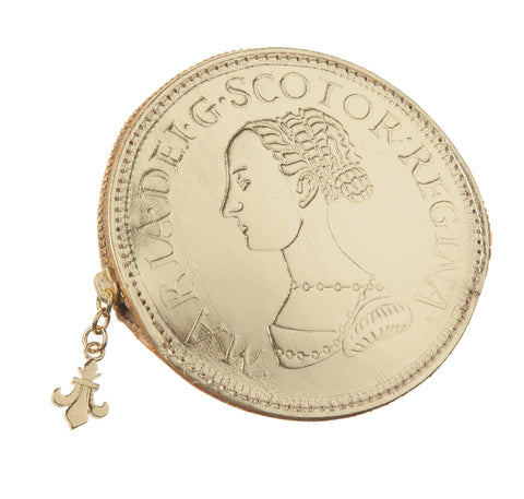 Mary Queen of Scots Gold Leather Coin Purse, National Museum of Scotland - CultureLabel