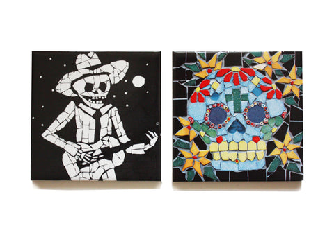 Juan and Skull Coaster Set, Juan is Dead - CultureLabel