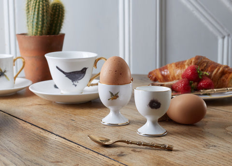 Bird and Nest Egg Cups Set of Two, Melody Rose - CultureLabel - 1