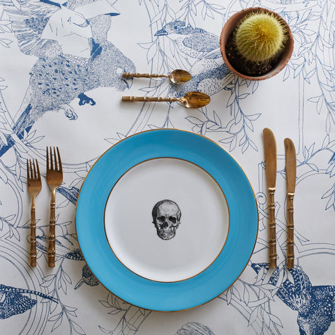 Blue Skull Dinner Plate, Melody Rose - CultureLabel
