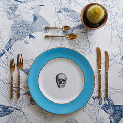 Blue Skull Dinner Plate, Melody Rose