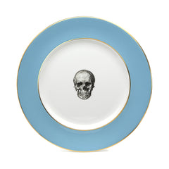 Blue Skull Dinner Plate, Melody Rose Alternate View