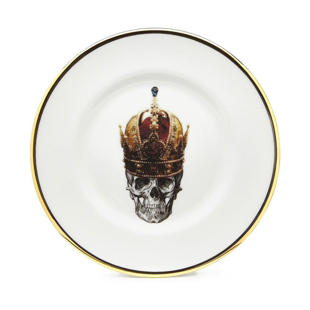 The Skull in Crown Bone China Plate, Melody Rose - CultureLabel - 1