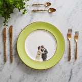 Green Kissing Couple Dinner Plate, Melody Rose - CultureLabel