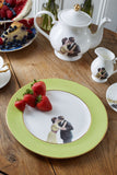 Green Kissing Couple Dinner Plate, Melody Rose - CultureLabel - 3