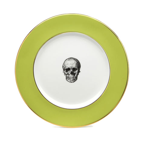 Green Skull Dinner Plate, Melody Rose Alternate View