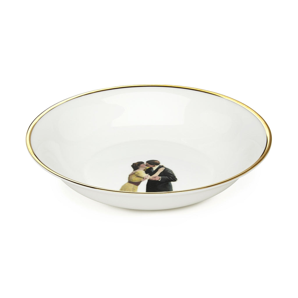 Kissing Couple Bone China Bowl, Melody Rose - CultureLabel - 1