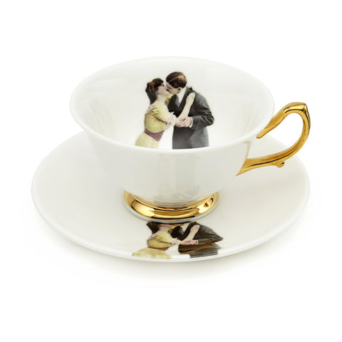 Kissing Couple Tea Set of Two, Melody Rose - CultureLabel - 1