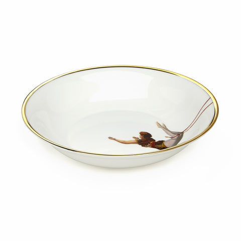 Trapeze Girl Bone China Bowl, Melody Rose