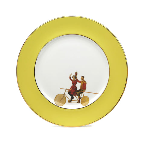 Yellow Highwire Dinner Plate, Melody Rose - CultureLabel