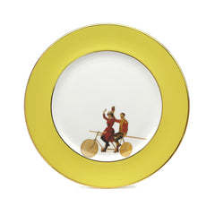 Yellow Highwire Dinner Plate, Melody Rose