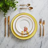 Yellow Highwire Dinner Plate, Melody Rose - CultureLabel - 2