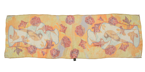 Yellow Songbird Silk Scarf, National Museum of Scotland Alternate View