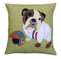 Molly McQueen The Bulldog Cushion, Mia Loves Jay