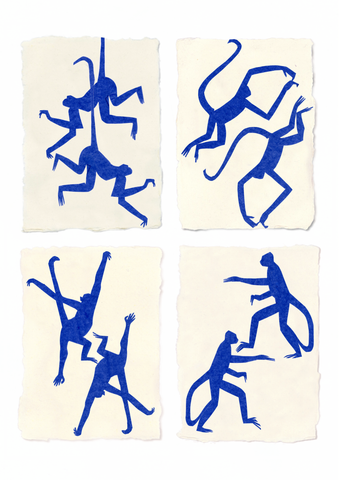 Blue Monkeys After Matisse, Holly Frean - CultureLabel - 1