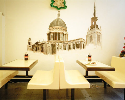 Mural at Pie and Mash Shop, Wood Street, Waltham Forest, Philipp Ebeling - CultureLabel
