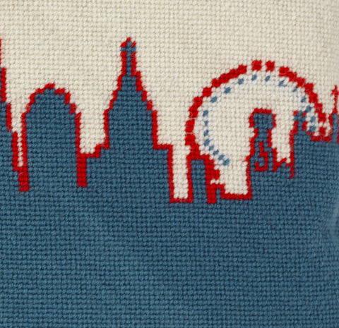 London Skyline - Red White and Blue, Fine Cell Work Alternate View