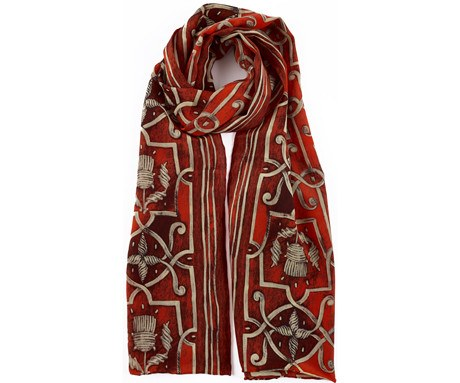 The Lord of Seton Adrian Vanson Red Silk Scarf - CultureLabel - 1