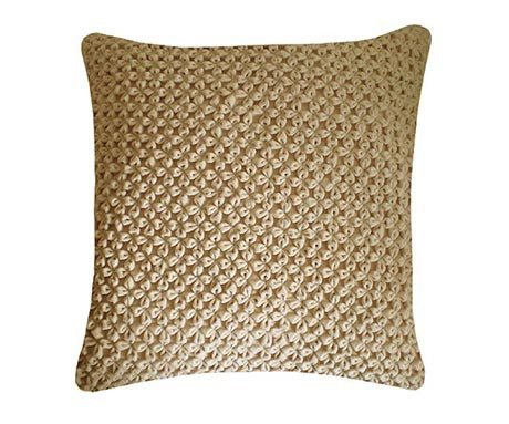 Hand Smocked Velvet Flower Cushion, Nitin Goyal - CultureLabel - 1
