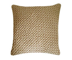 Hand Smocked Velvet Flower Cushion, Nitin Goyal