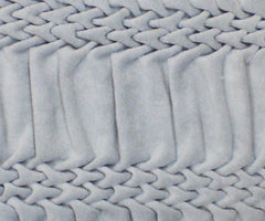 Hand Smocked Striped Wave Cushion - Duck Egg, Nitin Goyal Alternate View