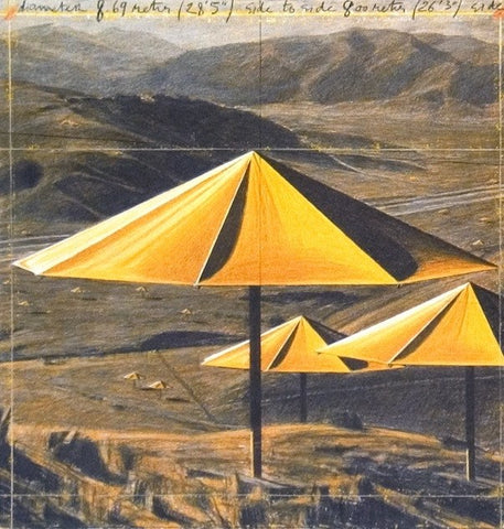 The Yellow Umbrellas, Javacheff Christo Alternate View