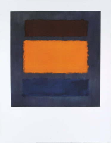Untitled, Brown and Orange on Maroon, Mark Rothko - CultureLabel
