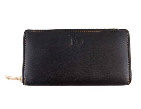 Gwenevere Black Zip Purse, N