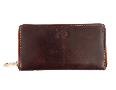 Gwenevere Brown Zip Purse, N'Damus - CultureLabel