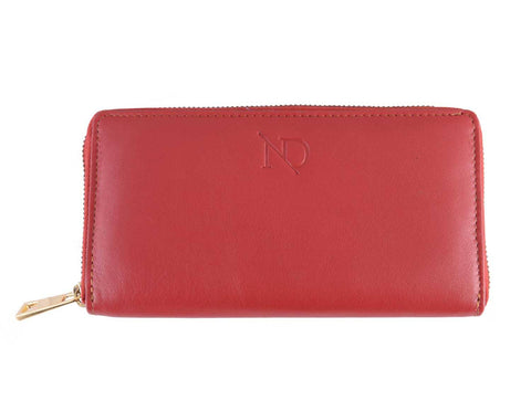 Gwenevere Red Zip Purse, N