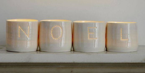 Noel Letter Minis Tealight Holder Set, Luna Lighting Alternate View