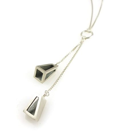 Polygon 2-way Necklace, Stephanie Ray
