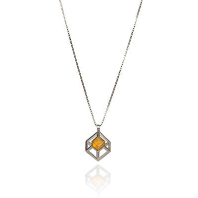 Missing Cube Pendant, Stephanie Ray