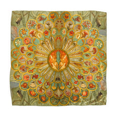 Phoebe Anna Traquair Square Silk Satin Scarf, National Museum of Scotland