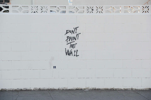 Don't Paint the Wall - Limited Edition Screen Print, Plastic Jesus Alternate View