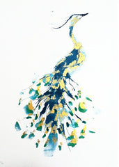 Peacock Limited Edition Screen Print, Gavin Dobson Alternate View