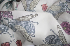 Love Bees Silk Scarf (Grey), Penelope Kenny Alternate View