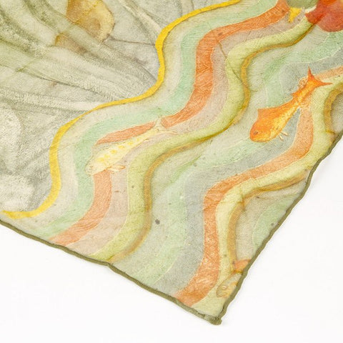 Phoebe Anna Traquair Silk Scarf, National Museum of Scotland Alternate View