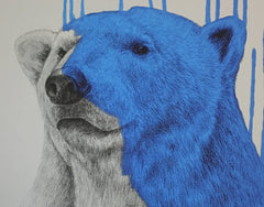 Hey There, Polar Bear, Aqua, Louise McNaught Alternate View