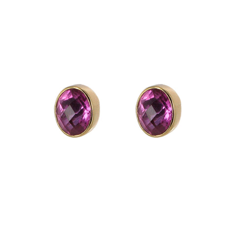 Pink Quartz Stud Earrings, The British Museum