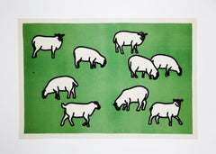 Sheep, Julian Opie Alternate View