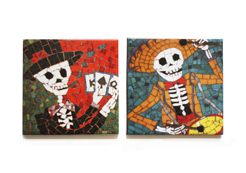 Drummer and Poker Coaster Set, Juan is Dead - CultureLabel