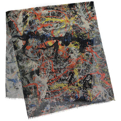 Blue Poles Jackson Pollock Scarf Alternate View