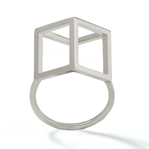 Silver Cube Ring, Stephanie Ray