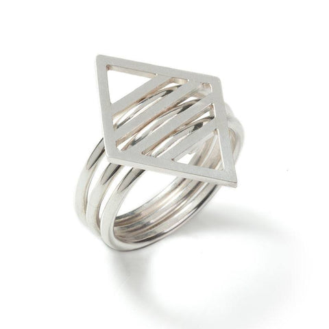Silver Rhombus Ring, Stephanie Ray - CultureLabel - 1 (Ring- Side Angle)