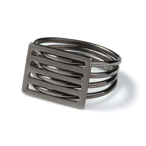 Black Grid Ring, Stephanie Ray - CultureLabel - 1 (full image)